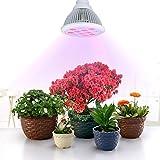 VicTsing Lampada per Piante di 12 LED (3 blu e 9 rossi) , Coltiva le Luci E27 Growing Bulbs per Giardino / Serra Idroponica Spettro Interno Growing Lamps per Coltivare piante (Rosso 660 nm e 630 nm e Blu 460 nm)