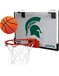 Michigan State University Spartans Indoor Basketball Hoop Set - Over the Door Game by Rawlings