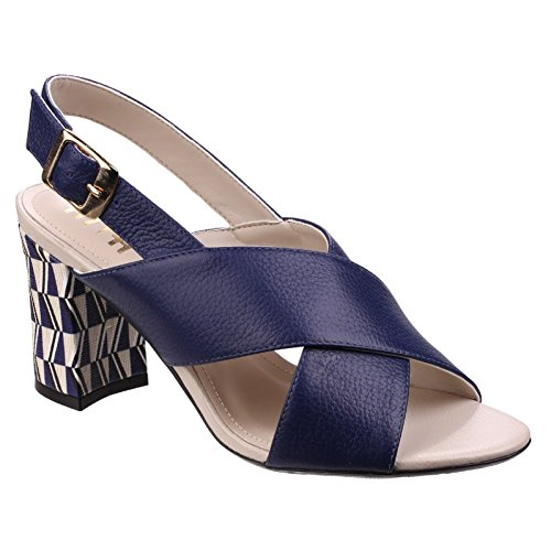 Riva Budino Womens Leather Sandals 9/42 Navy