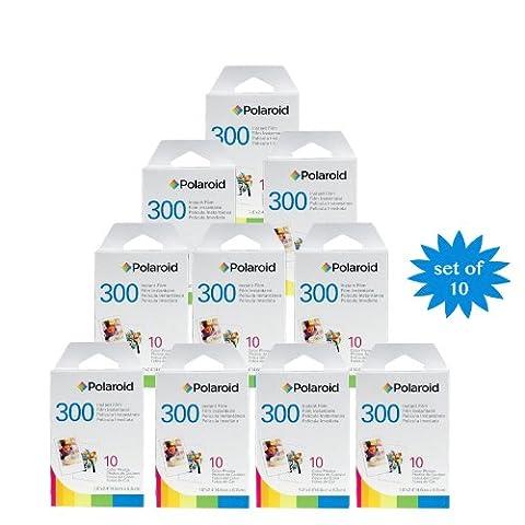 10 Pack Polaroid film instantané PIF-300 pour la caméra 300