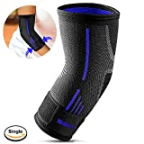 Fitlethic Elbow Brace Band Support Cap Compression Sleeve with Adjustable Strap, Perfect Elbow
