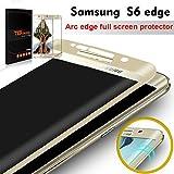 Samsung Galaxy S6 Edge Protector de Pantalla, TEFOMATE® Vidrio Templado Protector de Pantalla Completa Tempered Glass Full Screen Protector para Samsung Galaxy S6 Edge 5.1