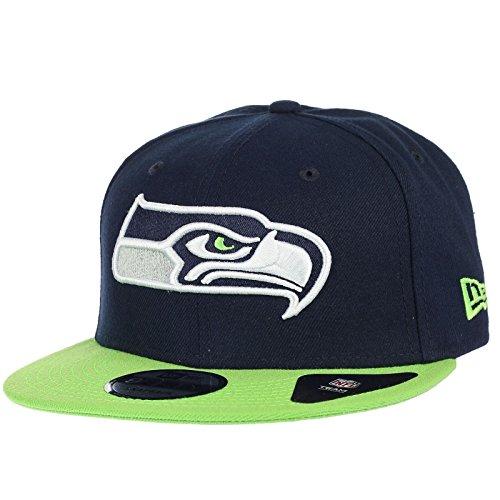 New Era Team Snap 9Fifty Snapback Cap Seattle Seahawks Dunkelblau Grün, Size:S/M Nfl-team-snap