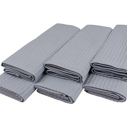 lot-de-6-torchons-a-vaisselle-100-coton-gaufre-de-pique-en-gris-clair-uni-argente-gris-gris-50-x-70-
