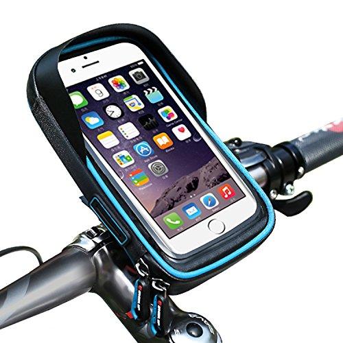 Bike Handy Lenkertasche, cheeroyal Bike Phone Halter Universal Wasserdicht Handy Fahrrad & Motorrad Halterung Wiege mit 360Drehen für iPhone 78Plus 6S 6Plus 55S Samsung Galaxy S8S7Edge S6Edge Plus S5Note 345HTC Huawei Xiaomi OnePlus Google Nexus 54Smartphones, blau