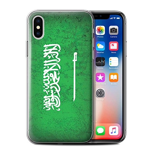 Coque Gel TPU de STUFF4 / Coque pour Apple iPhone 6S / Azerbaïdjan Design / Drapeau Asie Collection Arabie Saoudite/Arabe