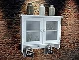 Livitat® Wandschrank Küchenschrank Küchenregal Wandregal antik Weiß Landhaus Shabby Chic SP63