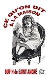 Ce qu'on dit à la maison (Lettres normandes) (French Edition)