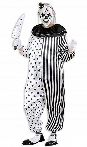 Widmann 01611 - Erwachsenenkostüm Killer Pierrot, Overall, Gröߟe S (Clown Pierrot Kostüm)