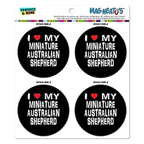 I love my Miniature Australian Shepherd Stylisch Mag-Neato 's-TM) Automotive Car Kühlschrank Locker Vinyl Magnet (Miniature Australian Shepherd)
