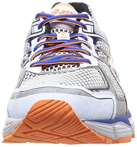 Asics Gt-1000 2, Chaussures de Trail Homme Blanc (0190-White/Black/Flash Orange)