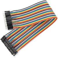 Plat Firm 40pcs 30cm macho a cable de puente dupont hembra para Arduino