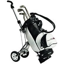 Golf & More, Stiftehalter Golfcaddy mit 3 Golfstifte, Golf Desktop, Golfgeschenke und witzige Golfsachen