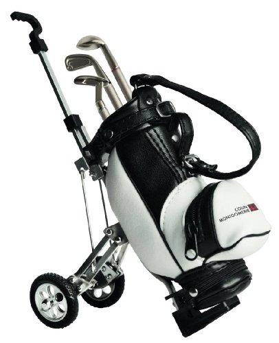 Mini-caddy (Golf Mini-Caddy mit Mini-Golfbag und drei Kugelschreibern in Golfschläger-Form,Golfgeschenke Golfzubehör Desktop)