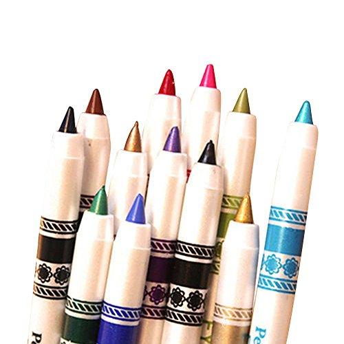 Contever® 12 Color Set di Matita per Eyeliner Eye Liner Sopracciglia Cosmetici trucco occhi