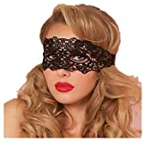 Rawdah Máscara de encaje Masquerade Catwoman Halloween Cutout Prom Party Mask Accesorios (Negro A)