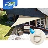 sunprotect 83286 Waterproof Sonnensegel, 5 x 5 x 7 m, 90° Grad Dreieck, creme