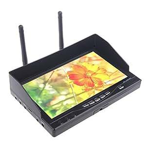 """GoolRC Leaning Tech FPV RX-LCD5802 5.8Ghz HD 800 * 480p 7 """"Récepteur Moniteur Batterie"""