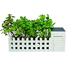 Mini Kräutergarten Pflanztopf für die Fensterbank - Übertopf Blumentopf Kräuter Pflanzkübel für die Fensterbank
