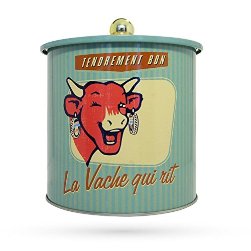La Vache Qui Rit - Boîte À Cookies Vintage 60'S Verte