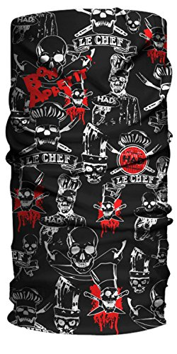 HAD Multifunktionstuch LE CHEF (schwarz Totenköpfe), Polyester, one size