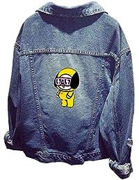 EMILYLE Bangtan Boys BTS Fans KPOP Impresión de Dibujos Sudadera Chula con  Dibujos Animados Denim Shooky 9f2d52aaca2