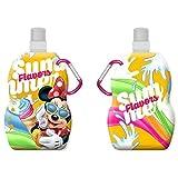 Gourde pliable MINNIE Disney 400-500ml congelable, Lavable, réutilisable,attachable * NEUF * Bouteille d'eau pliable