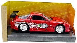 Jada Toys-RX7Dom Fast and Furious Mazda, 98377r, Rojo, en Miniatura (Escala 1/32