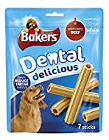 Bakers Dental Medium Dog Food Delicious Beef, 200 g - Pack of 6