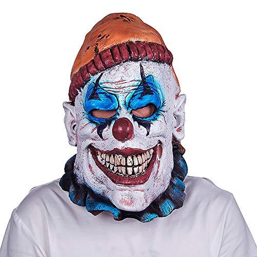 Neue Halloween Unterhaltsame Maske Latex Maske Party Horror Lächeln Clown Heikles Urlaub Ball Maske Kopfbedeckungen Unisex 1 Stücke Erwachsene Geschenk,White,Onesize