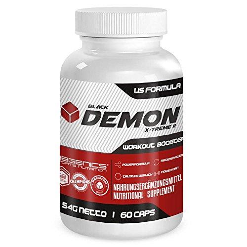 BlackDemon X-Treme II, Ausdauer und Leistungssteigernd, Qualitäts- Maca, Arginin, Tribulus, Zink, Eisen, Chrom, Vitamin B2, B6, C, BBGenics T-Booster, by BBGenics Sports Nutrition, Neutral, 60 Caps. (Pulver Stack Bcaa)