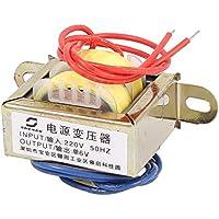 sourcingmap® 220V 50Hz Input 6V Uscita Verticale Montaggio Monofase trasformatore di potenza EI
