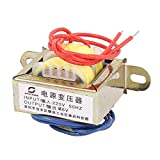 sourcingmap® 220V 50Hz Input 6V Output Vertical Mount Single Phase EI Power Transformer