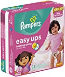 Pampers Easy Ups Diapers, Girls, Size3T-...