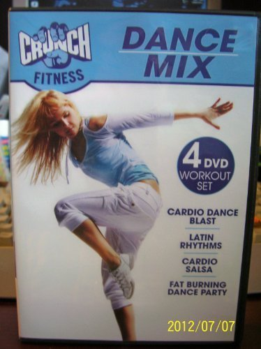 Crunch Fitness Dance Mix 4 DVD Workout set Includes Cardio Blast / Latin Rhythms / Cardio Salsa / Fat Burning Dance Party by Anchor Bay Entertainment, LLC