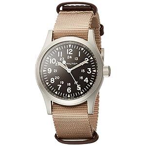 Reloj de pulsera HAMILTON para caballero en tejido marrón H69429901
