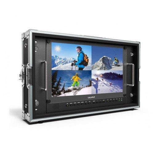 Lilliput Monitor LCD 15,6' 3840x2160 INFLIGHT CASE, IN :HDMI 4K/SDI/ DVI/VGA/AV, OUT: SDI - BM150-4K