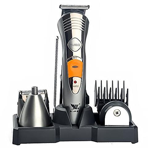 LEORX BIAOYA Bucht-580 7-in-1 Wiederaufladbare Waschbar Herren Elektrorasierer Folientrimmer Gesichts Body Grooming Kit