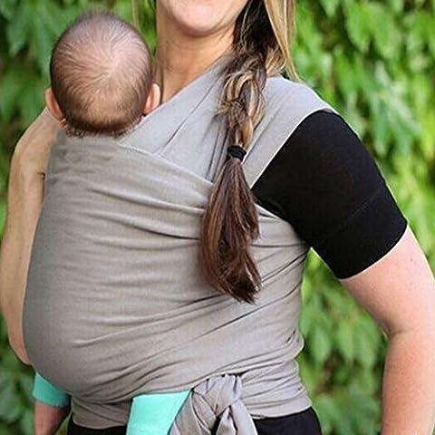 Confortevole Baby Wraps morbido, cotone/Spandex Comfort Fabric luce Baby Carrier Adatto per Neonati, Neonati e Bambini