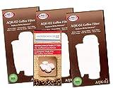 Human-Wellness 3 x AQK-02 Wasserfilter ersetzen Saeco Nr. CA6702/00 - Brita ® Intenza+ Wasserfilterkartusche für Saeco/Philips / Gaggia Kaffeemaschine - Kaffeevollautomat + 10 Reinigungstabs