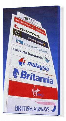canvas-print-of-airline-signs