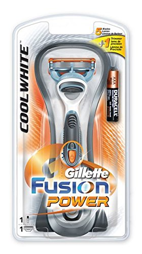 rasoir-gillette-fusion-power-blanc-froid
