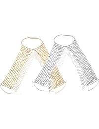 Segolike 2 Pieces/ Lot Woman's Backless Halter Bib Bra Body Chain Necklace Waist Belt Beach Bikini Jewelry
