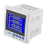 3-Phasiges Wechselstrom Elektrisches Spannungs-Meter, Multifunktions Digital LCD-Instrumententafel Meter, Gegenwärtiges Spannungs Frequenz Energie Meter V A Hz-kWh RS485