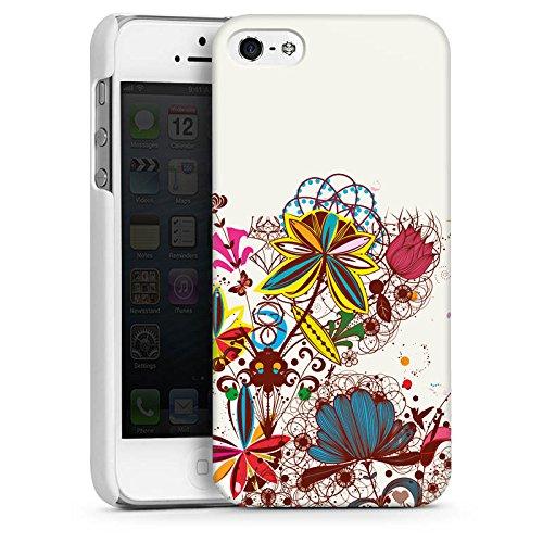 Apple iPhone 4 Housse Étui Silicone Coque Protection Printemps Fleurs Fleurs CasDur blanc