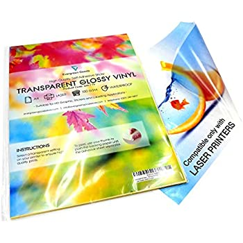 A4 Sticker Pearl Metallic Silver INKJET /& LASER Glossy Product Label Vinyls