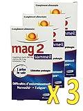 Mag 2 Sommeil - Complemento alimentare contro difficoltà di addormentarsi, nervosismo, affaticamento set di 3x30 compresse