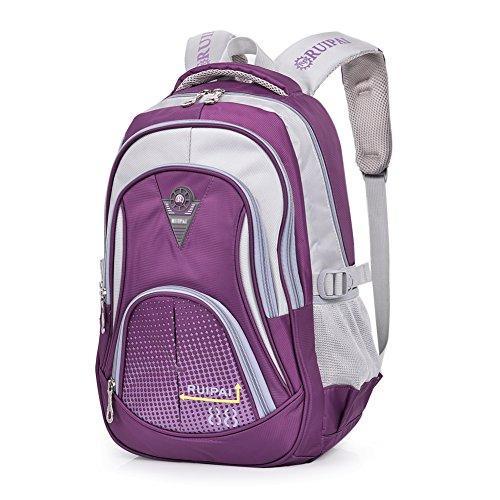 Imagen de vbiger niños  bolsa viaje  escuela con correas ajustables púrpura 2  alternativa