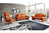 Echt Dick-Leder Sofa Couch Garnitur Funktionssofa Capri 2 Sitzer moebelhome *NEU