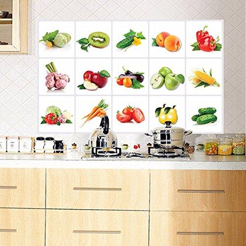 PANGUN 45 * 70Cm Küchengemüse Obstöl-Sicherer Wandaufkleber Abnehmbare Wasserdichte Aufkleber Home Decor